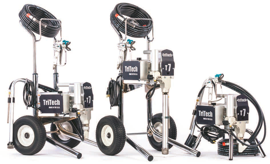 tritech airless sprayer t7 lo-cart hi-car and stand